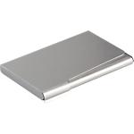 Portabiglietti da visita DURABLE Tascabile argento 57 x 90 mm 20 Biglietti alluminio 9 (l) x 1 (h) cm