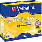 DVD+RW Verbatim Jewel 4.7 gb 120 min 5 pezzi