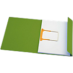 Cartelline Secolor con Jalema clip colore verde in conf da 10 pz