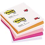Notes riposizionabili Post it assortiti 76 x 127 mm 70 g