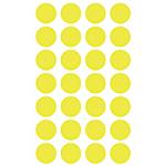 Etichette tonde adesive APLI giallo 168 etichette 6 fogli