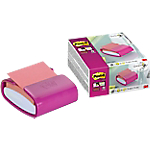 Dispenser + blochetto Post it Z Note Pro fucsia senza perforazione 2 pezzi