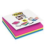 Foglietti adesivi Post it Super Sticky colori assortiti senza perforazione 3 blocchetti 70fogli