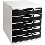 Cassettiera modulare a 5 cassetti Exacompta Classic nero 35 (l) x 28,8 (p) x 32 (h) cm