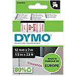Nastro DYMO D1 rosso bianco 1,2cm (l) x 700cm (h) x 7m (L) 7 m