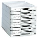 Cassettiera modulare a 10 cassetti Herlitz Profilin grigio chiaro 29,5 (l) x 38,5 (p) x 30,5 (h) cm