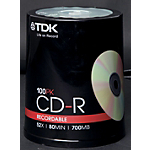 CD R TDK 700MB 80 min 52x spindle da 100 pz