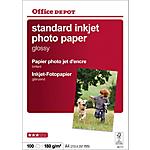 Carta Fotografica Office Depot Standard A4 lucido 180 g