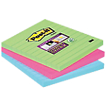 Notes riposizionabili Post it Maxi Super Sticky Neon assortito 101 x 101 mm 70 g