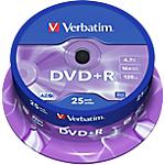 DVD R Verbatim 4.7 gb 120 min 25 pezzi