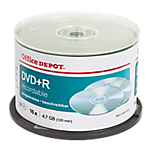 DVD+R Office Depot Spindle 4.7 GB 120 min 50 pezzi