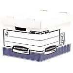 Contenitore per scatole archivio Fellowes R Kive cartone 100% riciclato 33,5 (l) x 40,4 (p) x 29,2 (h) cm bianco blu 10 pezzi