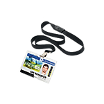 Porta badge con cordoncino DURABLE Mono Pushbox trasparente