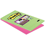 Notes riposizionabili Post it Maxi Super Sticky Neon assortito 125 x 200 mm 70 g