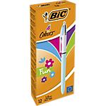Penna a sfera BIC 4 Colours Fashion 0.4 mm assortiti