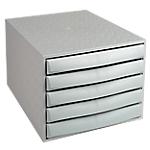 Cassettiera a 5 cassetti Office Depot grigio 28,4 (l) x 38,7 (p) x 21,8 (h) cm