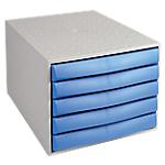 Cassettiere a 5 cassetti Office Depot grigio blu 28,4 (l) x 38,7 (p) x 21,8 (h) cm