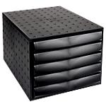 Cassettiera a 5 cassetti Office Depot nero 28,4 (l) x 38,7 (p) x 21,8 (h) cm