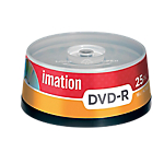 DVD R Imation da 47 GB spindle da 25 pz