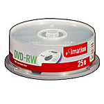 DVDRW Imation da 47 GB spindle da 25 pz
