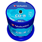 CD R Verbatim 52x 700 mb 100 pezzi