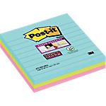 Foglietti adesivi Post it Super Sticky a righe assortiti senza perforazione 101 x 101 mm 3 blocchetti 70fogli