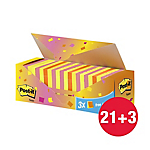 Post it confezione convenienza colorata dim 76 x 76 mm 21  3 omaggio