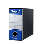 Registratore Esselte Oxford Memorandum blu 2 anelli 80 mm 19 x 8 cm