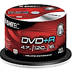 DVDR Emtec 47GB 120 min 16X spindle da 50 pz