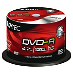 DVD R Emtec 47GB 120 min 16X spindle da 50 pz
