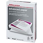 Carta Laser Advanced Paper Office Depot formato A4 grammatura 90 g m2 in risma da 500 fogli