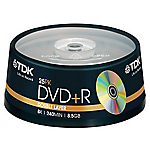 DVDR DL TDK 856 GB 30 min 8x jewel da 25 pz
