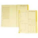 Cartelle matricolari dipendenti giallo cartoncino 24 (h) x 32 (l) cm 25 pezzi