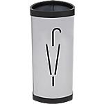 Portaombrelli Alba in acciaio grigio capacità 10 ombrelli 26 (Ø) x 60 (h) x 26 (p) cm