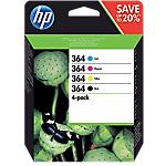 Cartuccia inchiostro HP originale 364 nero & 3 colori n9j73ae confezione 4