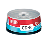 CD scrivibili Imation spindle da 25 pz