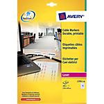 Etichette per cavi elettrici Avery Zweckform bianco 200 etichette 10 fogli