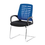 Sedia per visitatore Realspace Taylor in rete blu