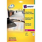 Etichette per cavi elettrici Avery Zweckform bianco 480 etichette 20 fogli