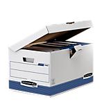 Contenitore per scatole archivio Fellowes cartone 39 (l) x 31 (p) x 31 (h) cm bianco blu 10 pezzi