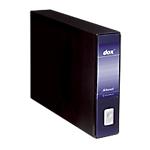 Registratore Rexel Dox A3 blu 2 anelli 80 mm 31,5 (h) x 8 (l) cm