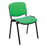 Sedia per sala d'attesa Classic imbottitura in schiumato poliuretanico verde
