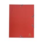 Cartellina a tre lembi Exacompta Eco polipropilene opaco 32 (h) x 24 (l) x 0,2 (p) cm rosso 30