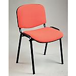 Sedia per sala d'attesa Classic tessuto, acciaio, polipropilene arancione