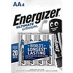 Pile al litio Energizer Ultimate AA confezione 4