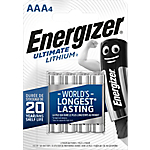 Pile al litio Energizer Ultimate Lithium AAA confezione 4