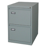 Classificatore per cartelle sospese 2 cassetti grigio 460 (l) x 620 (p) x 700 (h) mm