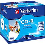 CD R Verbatim 52x 700 mb 10 pezzi