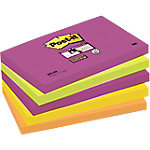 Notes riposizionabili Post it Super Sticky neon 76 x 127 mm 70 g