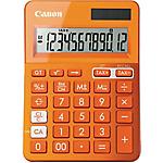 Calcolatrice da tavolo Canon LS123K solare e batteria arancione